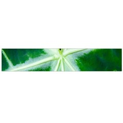 Green Leaf Macro Detail Flano Scarf (large) by Nexatart