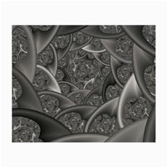 Fractal Black Ribbon Spirals Small Glasses Cloth