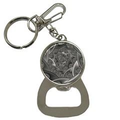 Fractal Black Ribbon Spirals Button Necklaces by Nexatart
