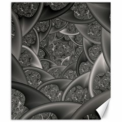 Fractal Black Ribbon Spirals Canvas 20  X 24   by Nexatart