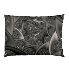Fractal Black Ribbon Spirals Pillow Case by Nexatart