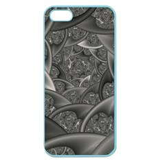 Fractal Black Ribbon Spirals Apple Seamless Iphone 5 Case (color)