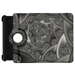 Fractal Black Ribbon Spirals Kindle Fire Hd 7  by Nexatart