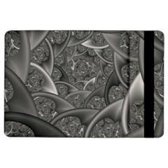 Fractal Black Ribbon Spirals Ipad Air 2 Flip by Nexatart