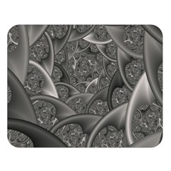 Fractal Black Ribbon Spirals Double Sided Flano Blanket (large)  by Nexatart