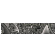 Fractal Black Ribbon Spirals Flano Scarf (small) by Nexatart