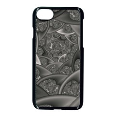 Fractal Black Ribbon Spirals Apple Iphone 7 Seamless Case (black) by Nexatart