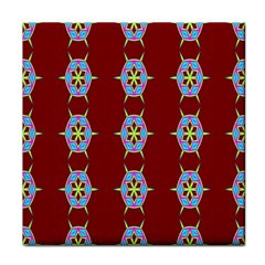 Geometric Seamless Pattern Digital Computer Graphic Tile Coasters