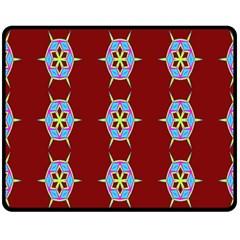 Geometric Seamless Pattern Digital Computer Graphic Fleece Blanket (medium)  by Nexatart