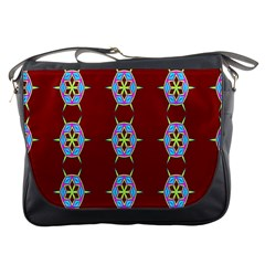 Geometric Seamless Pattern Digital Computer Graphic Messenger Bags