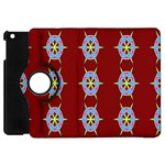 Geometric Seamless Pattern Digital Computer Graphic Apple iPad Mini Flip 360 Case Front