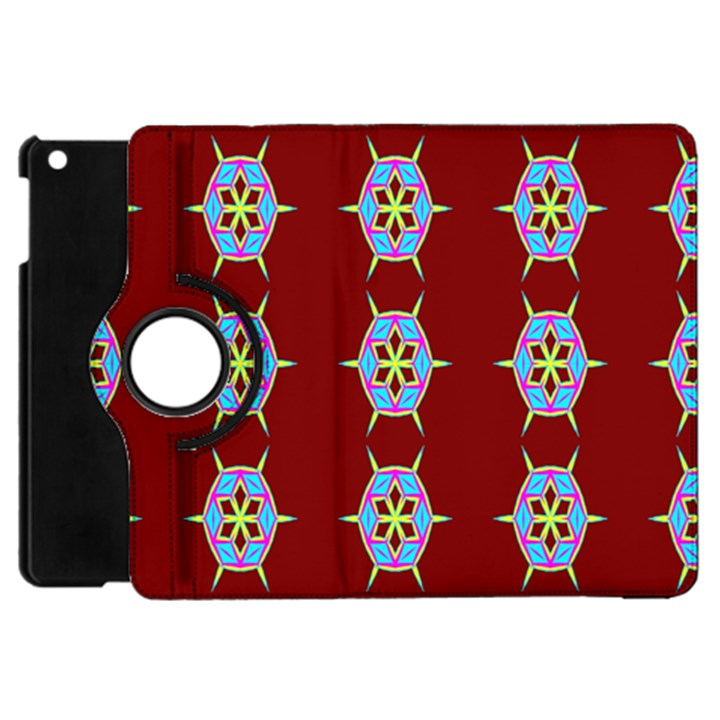 Geometric Seamless Pattern Digital Computer Graphic Apple iPad Mini Flip 360 Case