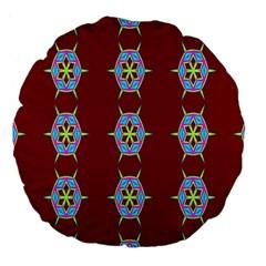 Geometric Seamless Pattern Digital Computer Graphic Large 18  Premium Round Cushions by Nexatart