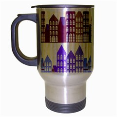 Houses City Pattern Travel Mug (silver Gray) by Nexatart