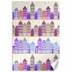 Houses City Pattern Canvas 20  X 30   by Nexatart