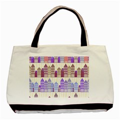 Houses City Pattern Basic Tote Bag (two Sides)