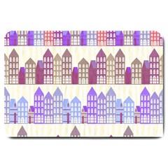 Houses City Pattern Large Doormat