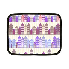 Houses City Pattern Netbook Case (small)  by Nexatart