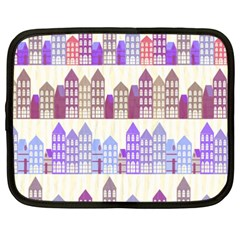 Houses City Pattern Netbook Case (xxl)
