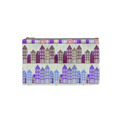Houses City Pattern Cosmetic Bag (small)  by Nexatart