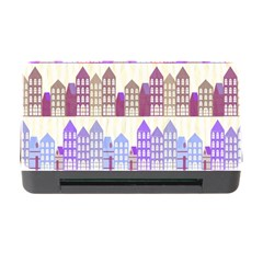 Houses City Pattern Memory Card Reader With Cf by Nexatart