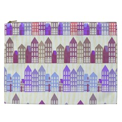 Houses City Pattern Cosmetic Bag (xxl)  by Nexatart