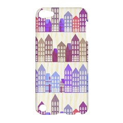 Houses City Pattern Apple Ipod Touch 5 Hardshell Case by Nexatart