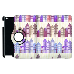 Houses City Pattern Apple Ipad 3/4 Flip 360 Case by Nexatart