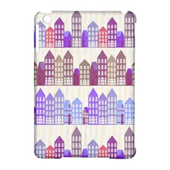 Houses City Pattern Apple Ipad Mini Hardshell Case (compatible With Smart Cover) by Nexatart