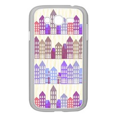 Houses City Pattern Samsung Galaxy Grand Duos I9082 Case (white)