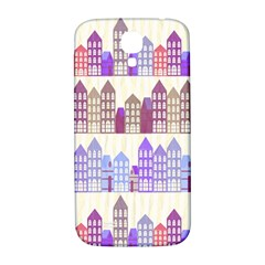 Houses City Pattern Samsung Galaxy S4 I9500/i9505  Hardshell Back Case