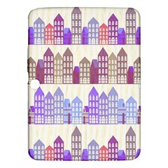 Houses City Pattern Samsung Galaxy Tab 3 (10 1 ) P5200 Hardshell Case