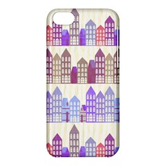 Houses City Pattern Apple Iphone 5c Hardshell Case