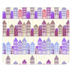 Houses City Pattern Double Sided Flano Blanket (small)