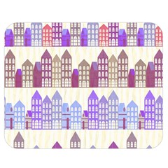 Houses City Pattern Double Sided Flano Blanket (medium)  by Nexatart