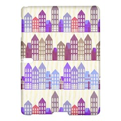 Houses City Pattern Samsung Galaxy Tab S (10 5 ) Hardshell Case  by Nexatart