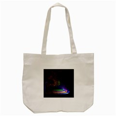 Illuminated Trees At Night Tote Bag (cream)