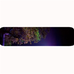Illuminated Trees At Night Large Bar Mats by Nexatart