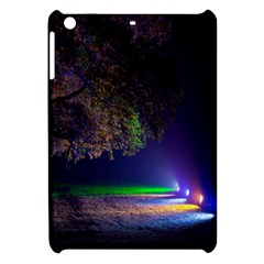 Illuminated Trees At Night Apple Ipad Mini Hardshell Case by Nexatart