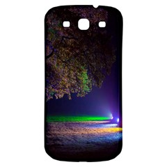 Illuminated Trees At Night Samsung Galaxy S3 S Iii Classic Hardshell Back Case by Nexatart