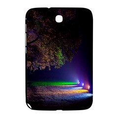Illuminated Trees At Night Samsung Galaxy Note 8 0 N5100 Hardshell Case  by Nexatart