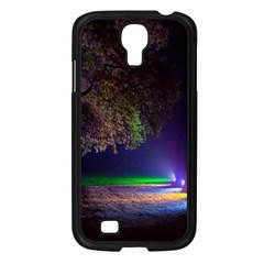 Illuminated Trees At Night Samsung Galaxy S4 I9500/ I9505 Case (black) by Nexatart