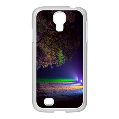 Illuminated Trees At Night Samsung Galaxy S4 I9500/ I9505 Case (white) by Nexatart