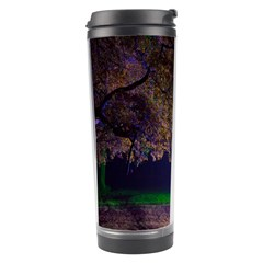Illuminated Trees At Night Travel Tumbler by Nexatart