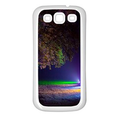 Illuminated Trees At Night Samsung Galaxy S3 Back Case (white) by Nexatart