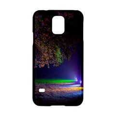 Illuminated Trees At Night Samsung Galaxy S5 Hardshell Case  by Nexatart