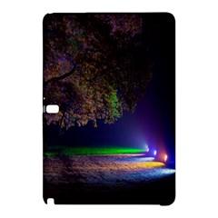 Illuminated Trees At Night Samsung Galaxy Tab Pro 10 1 Hardshell Case by Nexatart