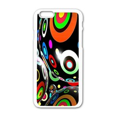 Background Balls Circles Apple Iphone 6/6s White Enamel Case by Nexatart