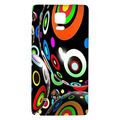 Background Balls Circles Galaxy Note 4 Back Case by Nexatart
