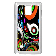 Background Balls Circles Samsung Galaxy Note 4 Case (white)